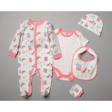 Lily & Jack 'I Love My Pony' Baby Girls 5 Piece Set in Net Bag PACK OF 4