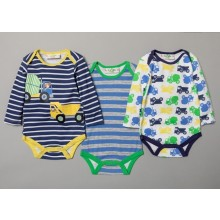Lily & Jack Baby Boys 3 Pk of 'Building Site' Bodysuits PACK OF 6