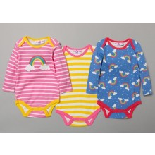 Lily & Jack 3 Pk of Baby Girls 'Rainbow' Bodysuits PACK OF 6