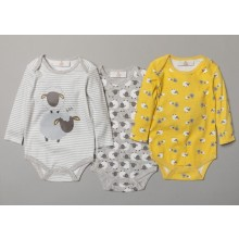 Lily & Jack Baby Boys 3 Pk of 'Sheep' Site' Bodysuits PACK OF 6