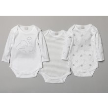 Rock A Bye Baby 3 Pk of Baby Boys and Girls Bodysuits PACK OF 6