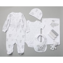 Rock a Bye Baby Boutique  'Bear'  Baby Boys and Girls 10 Piece Set PACK OF 4