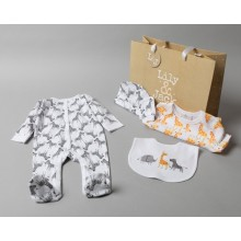 Lily & Jack 'Animals' Baby Boys 5 Piece Set in Net Bag PACK OF 4