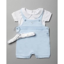 Rock a Bye Baby Boutique Baby Boys Dungaree Set PACK OF 6