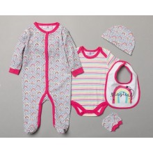 Lily & Jack 'Rainbow' Baby Girls 5 Piece Set in Net Bag PACK OF 4