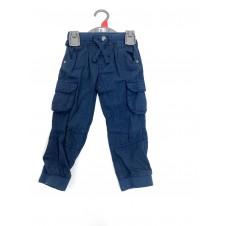 REDUCED PRICE Ex M--e Baby Boys Navy Blue Cargo Pants PACK OF 10