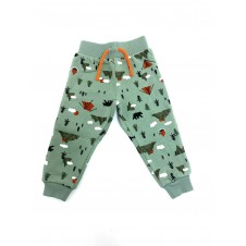 Ex Store 'Camping' Baby Boys Olive Jogpants PACK OF 10