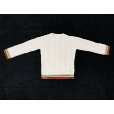 Ex Store Girls White Cable Jumper 7 YRS PACK OF 5