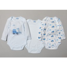 Rock A Bye Baby 3 Pk of Baby Boys Bodysuits PACK OF 6