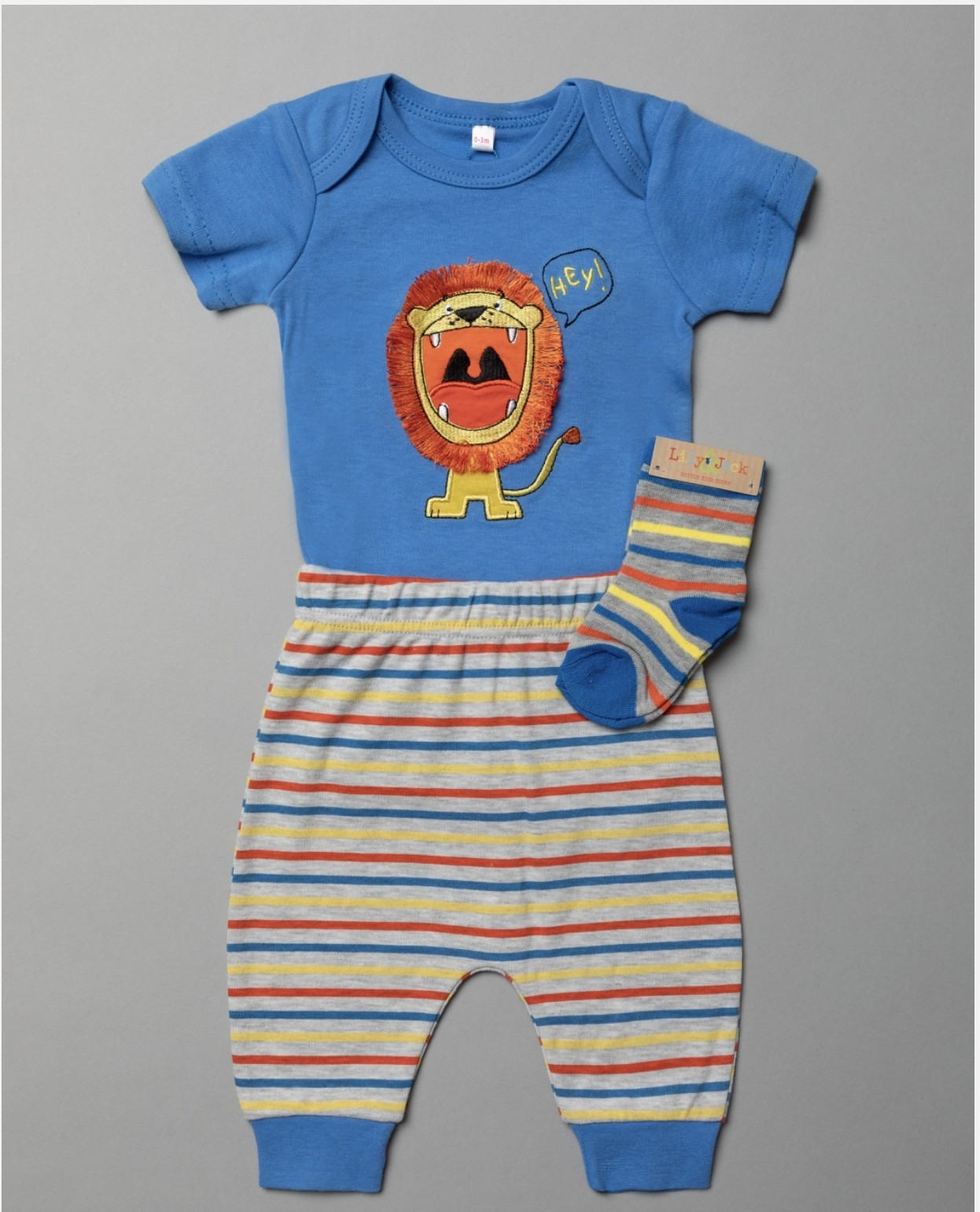 Lily & Jack 'Lion' Baby Boys 3 Pieces Set  PACK OF 4