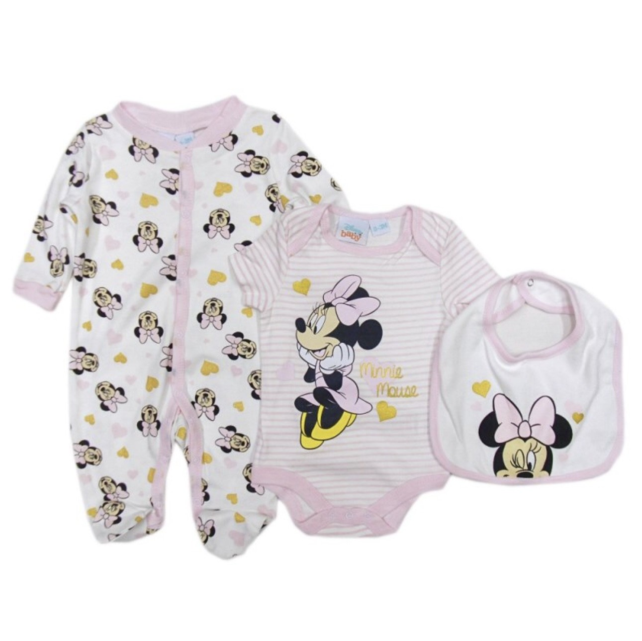 Disney Baby 'Minnie Mouse' 3 Pieces Set PACK OF 6