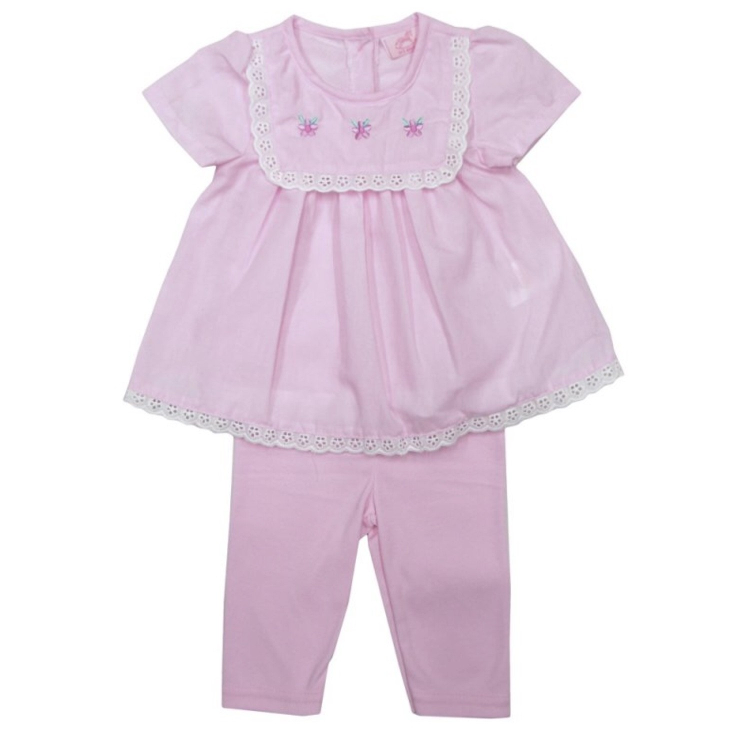 Rock a Bye Baby Baby Girls Pink Tunic Dress and Leggings Set PACK OF 6
