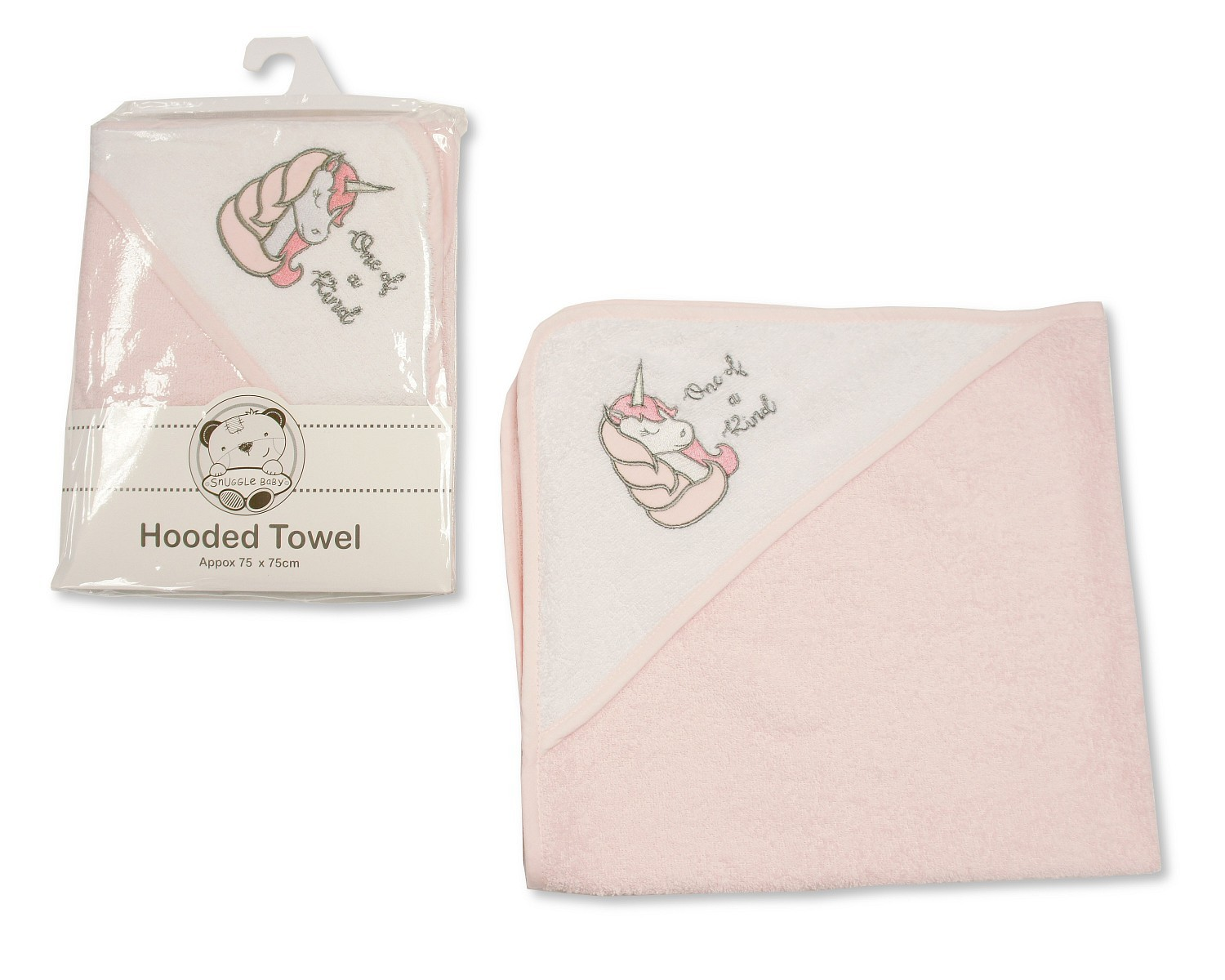Snuggle Baby 'Unicorn' Baby Girls Hooded Towel PACK OF 5