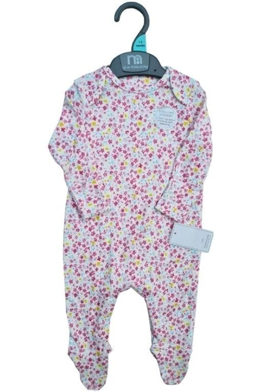 Mothercare 'Floral' Baby Girls Sleepsuit PACK OF 8