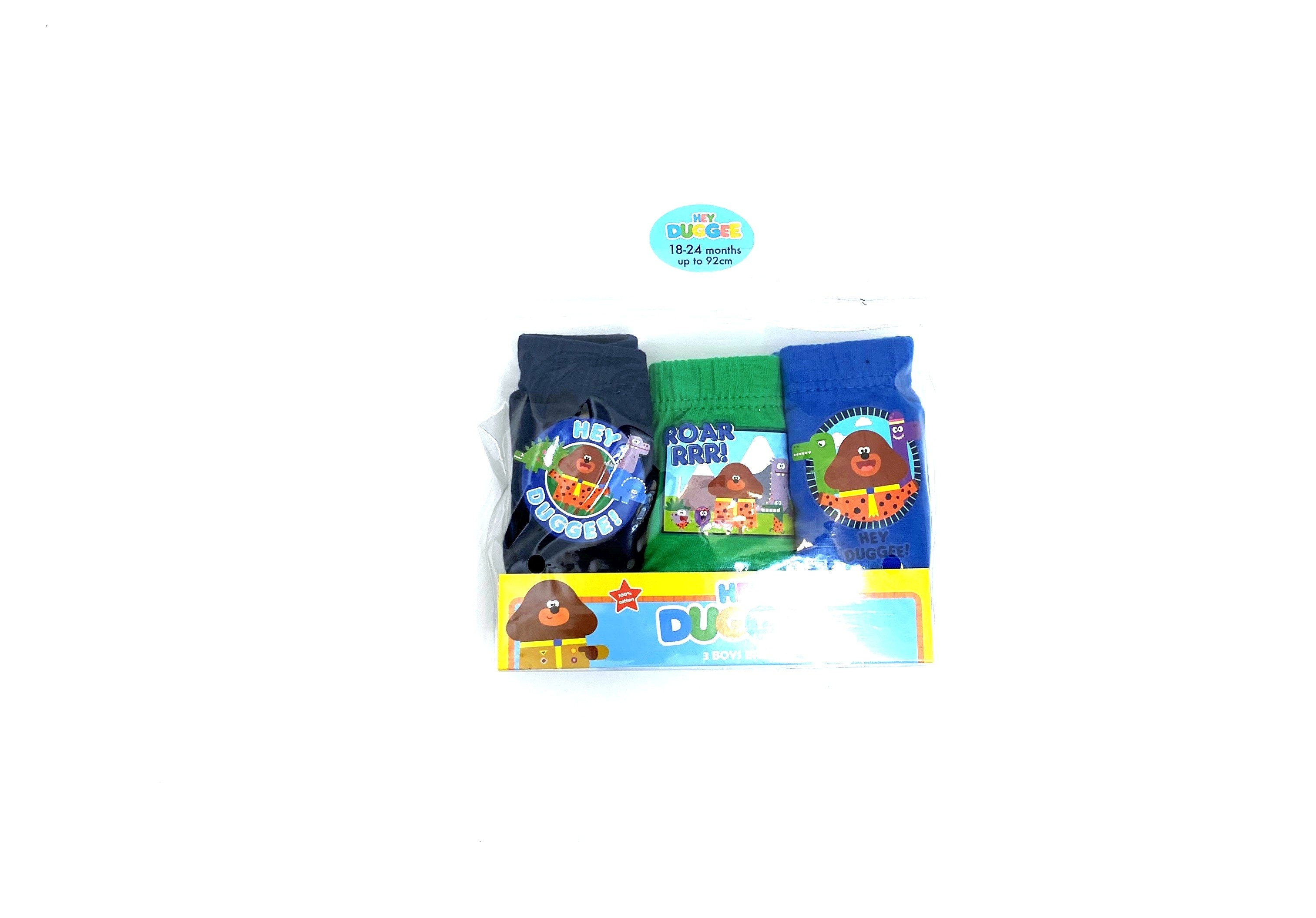 Hey Duggee 'Roar RRR!' Boys 3 Pack of Briefs PACK OF 9