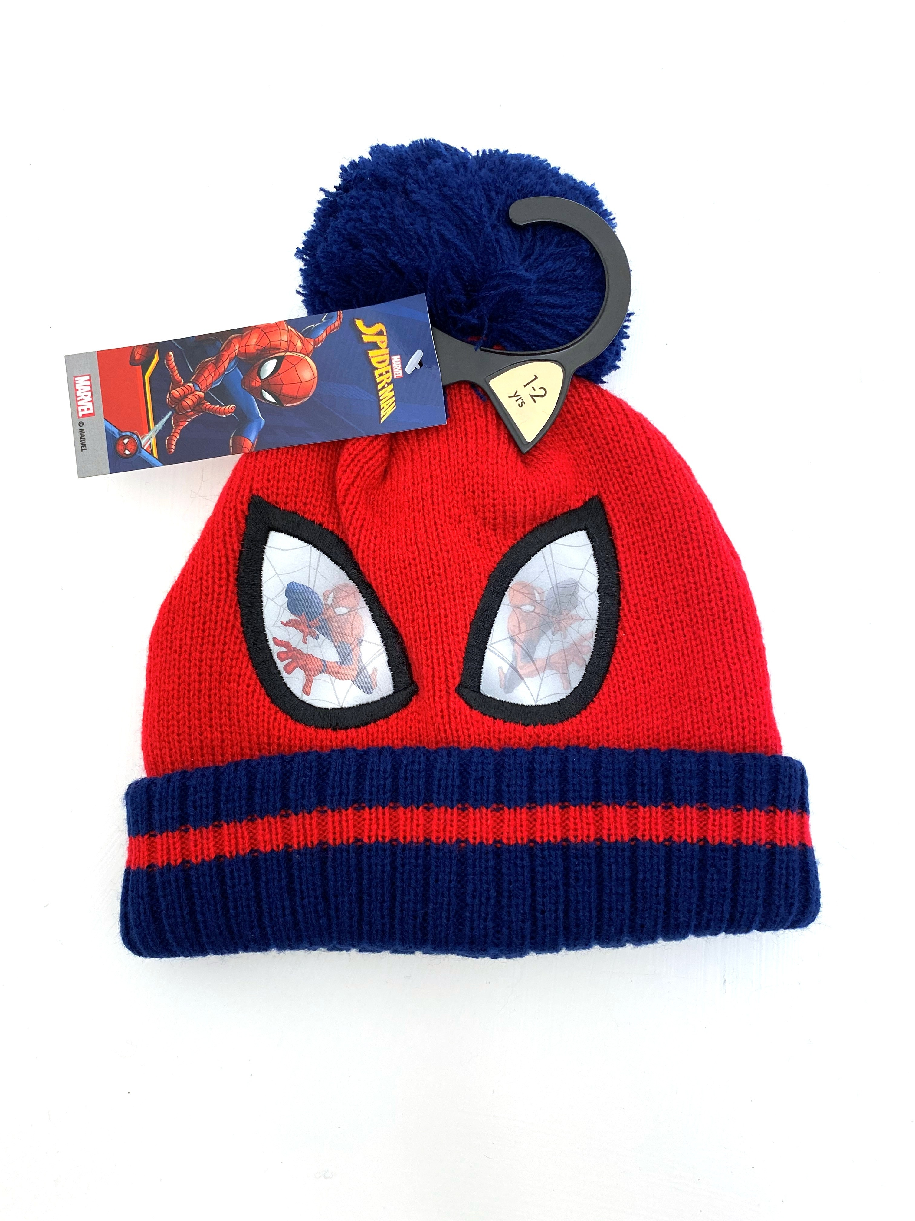 Spider Man Boys Hat with Navy Blue Pom Pom  PACK OF 5