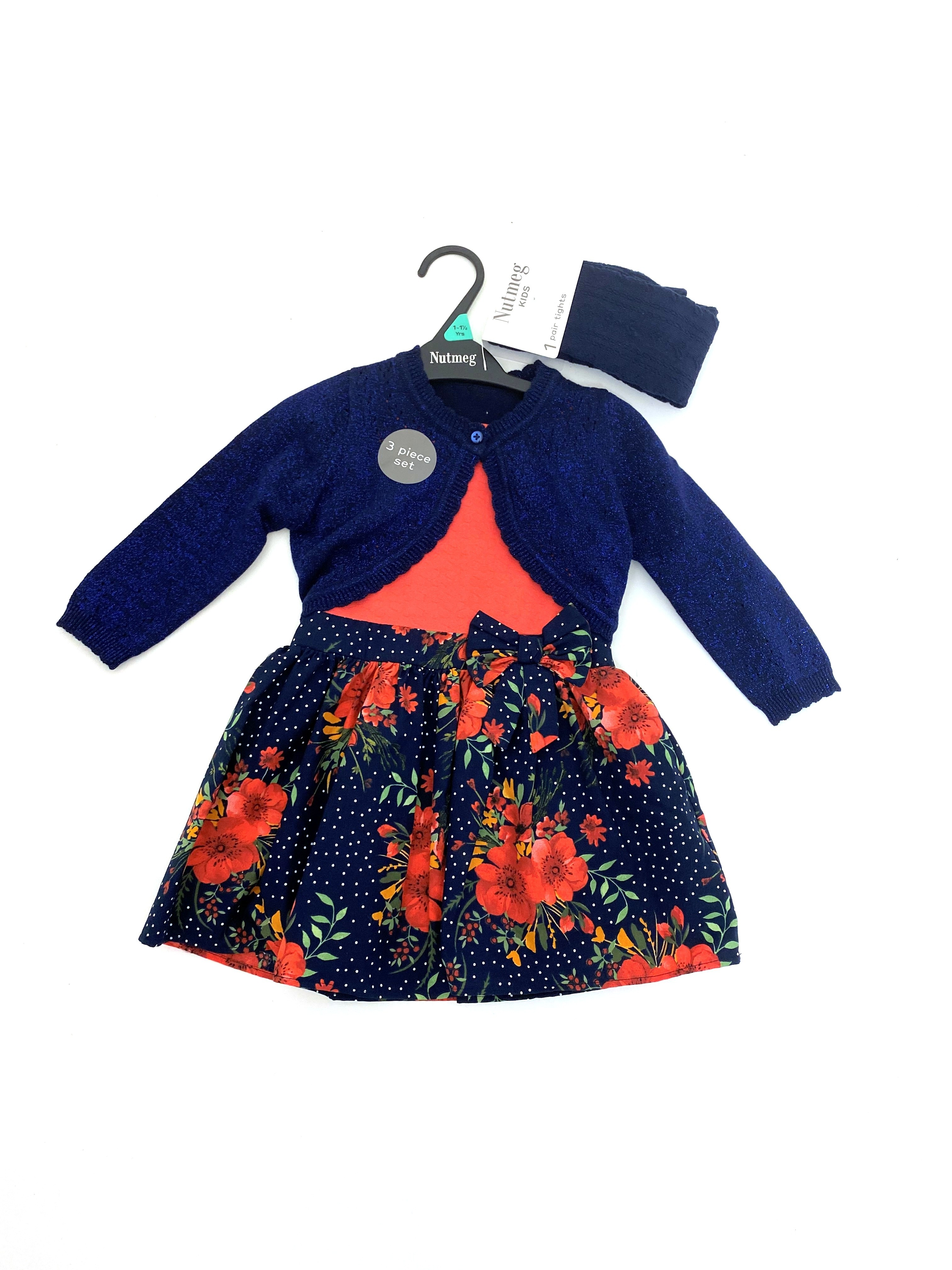 Ex Store Girls Dress, Shrug and Tights Set PACK OF 8