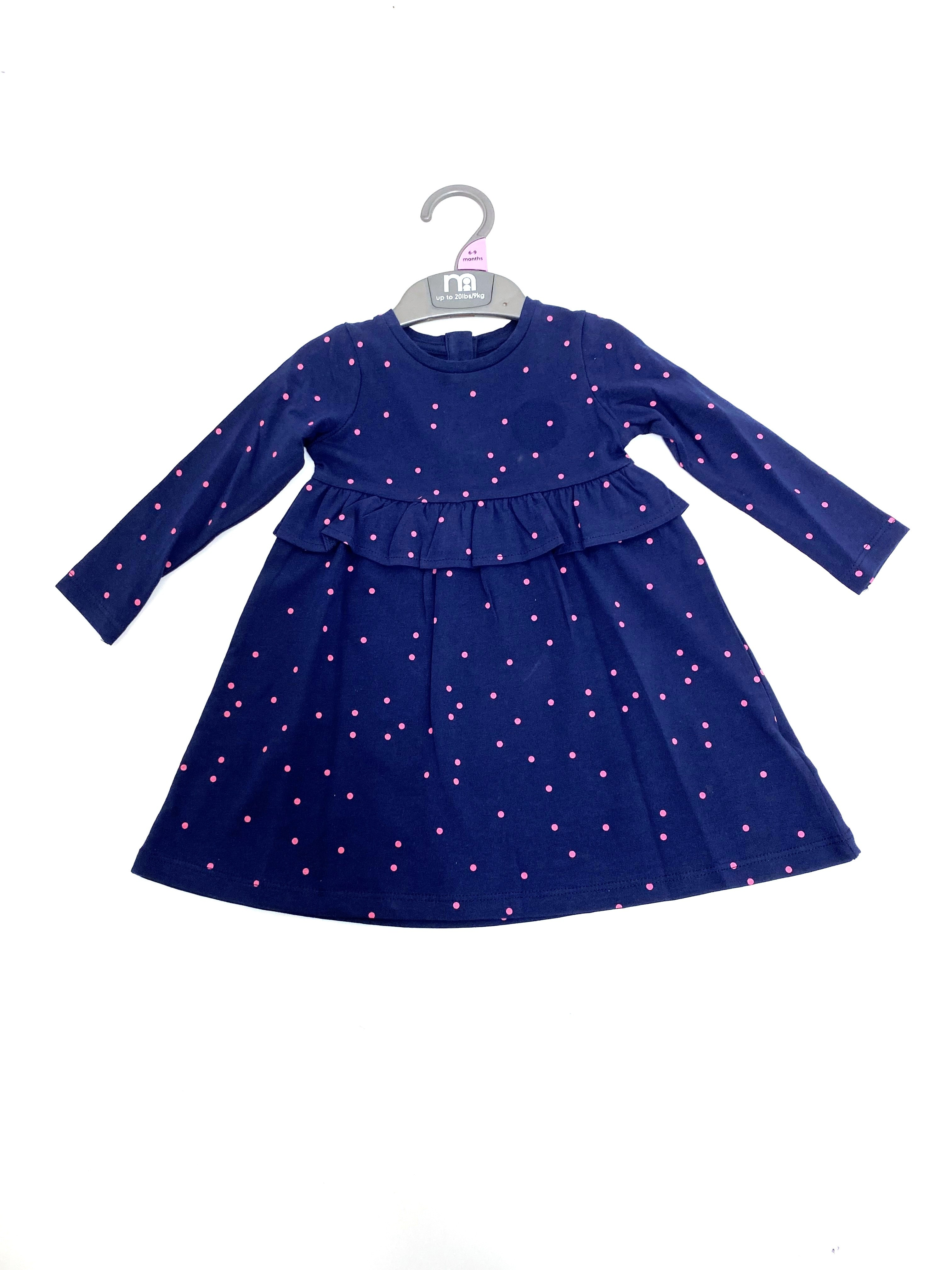 Ex M-e Baby Girls 'Spotted' Dress PACK OF 8