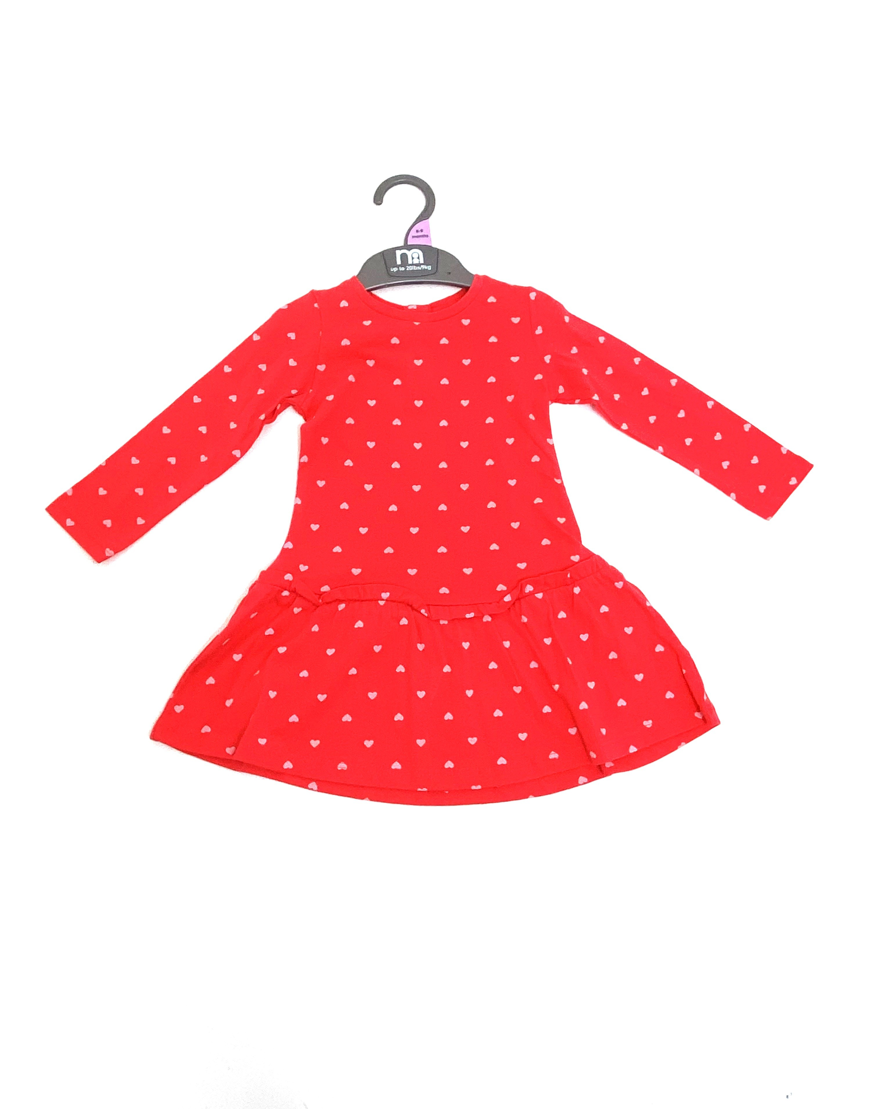 Ex M-e 'Hearts' Baby Girls Dress PACK OF 5