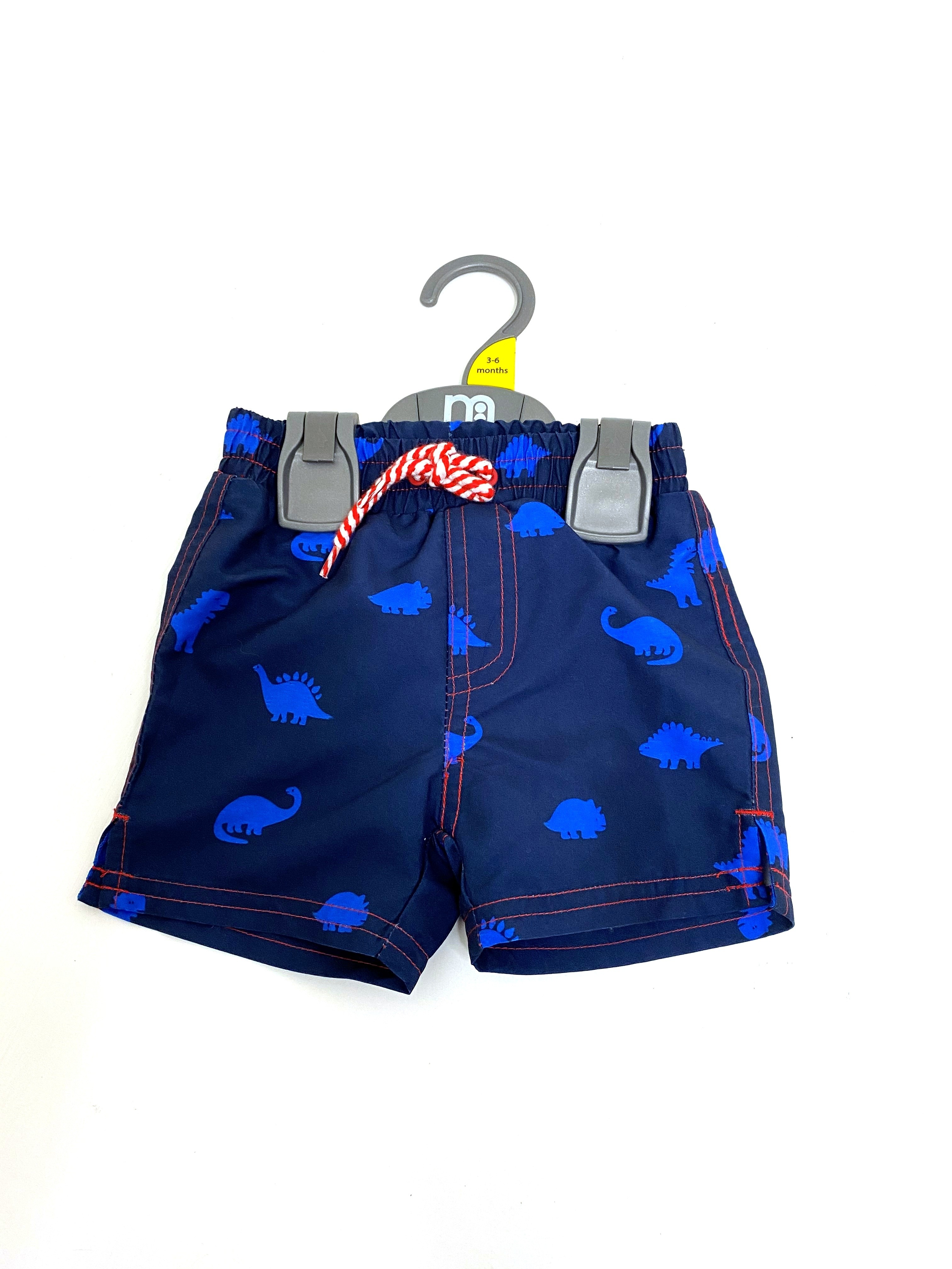 Ex M-e  'Dinosaur' Baby Boys Swim Shorts PACK OF 6