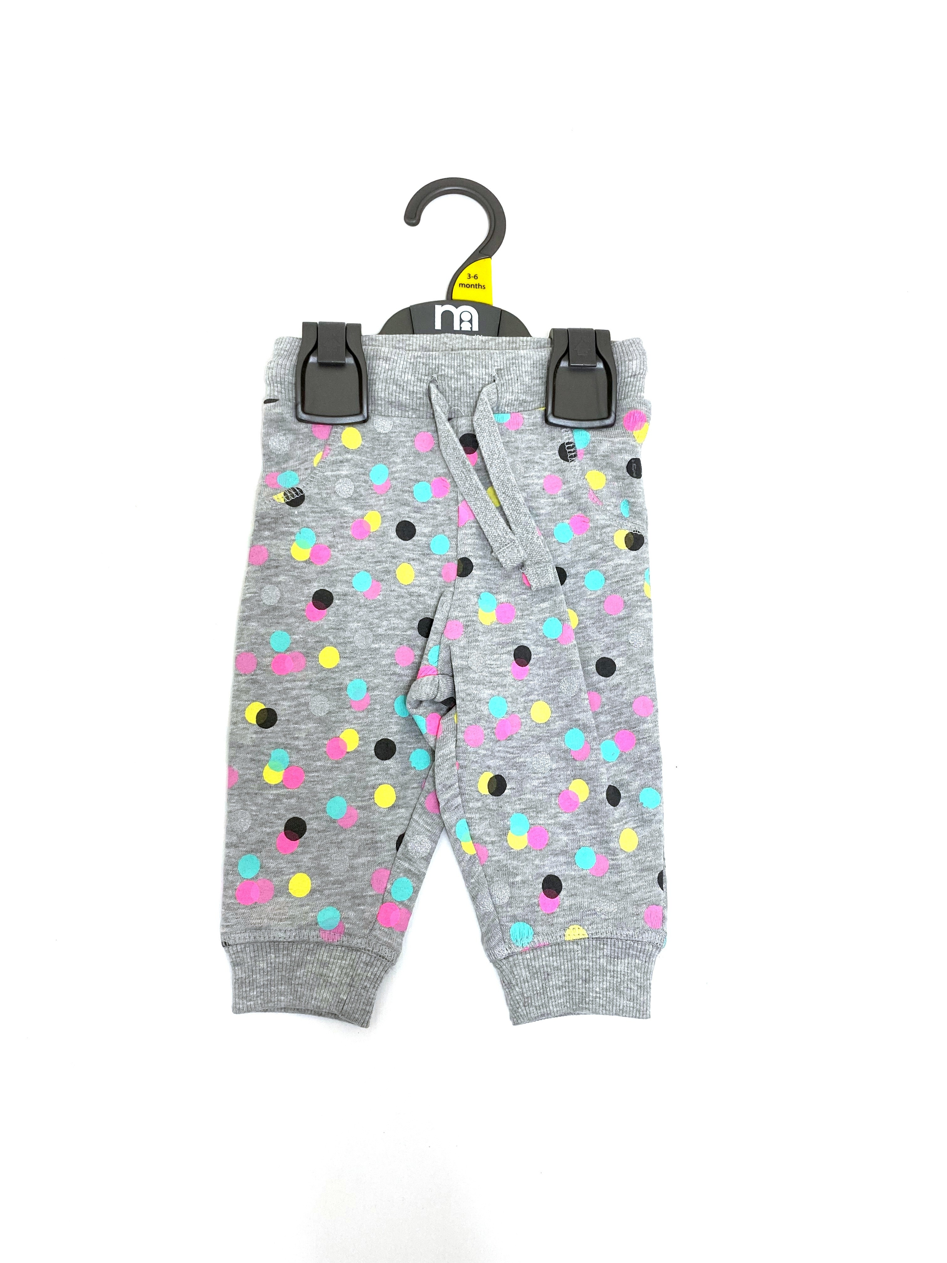 Ex M-e Baby Girls 'Spotted' Jogpants PACK OF 7