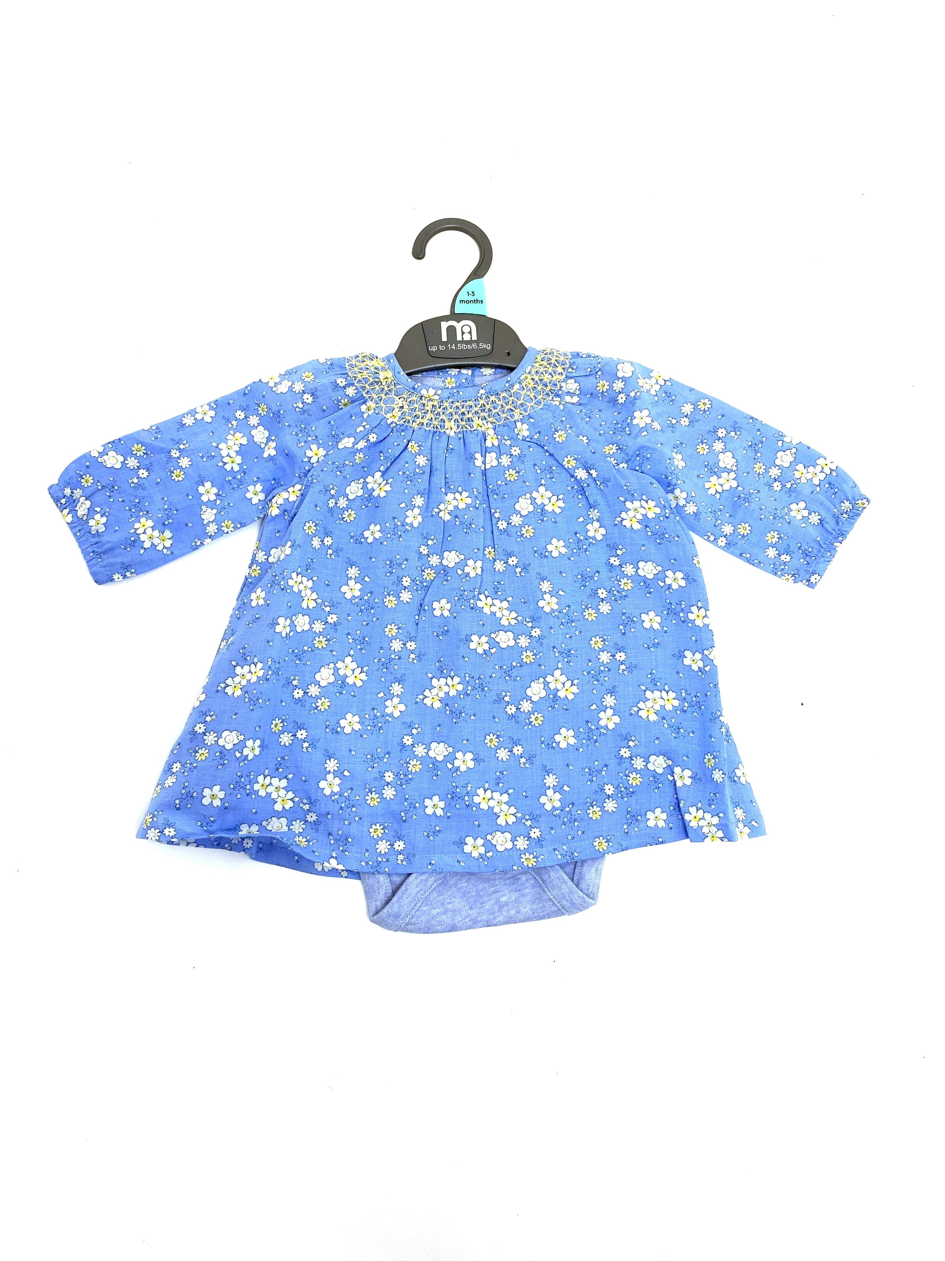 Ex M-e Baby Girls Dress with Attached Bodysuit PACK OF 8