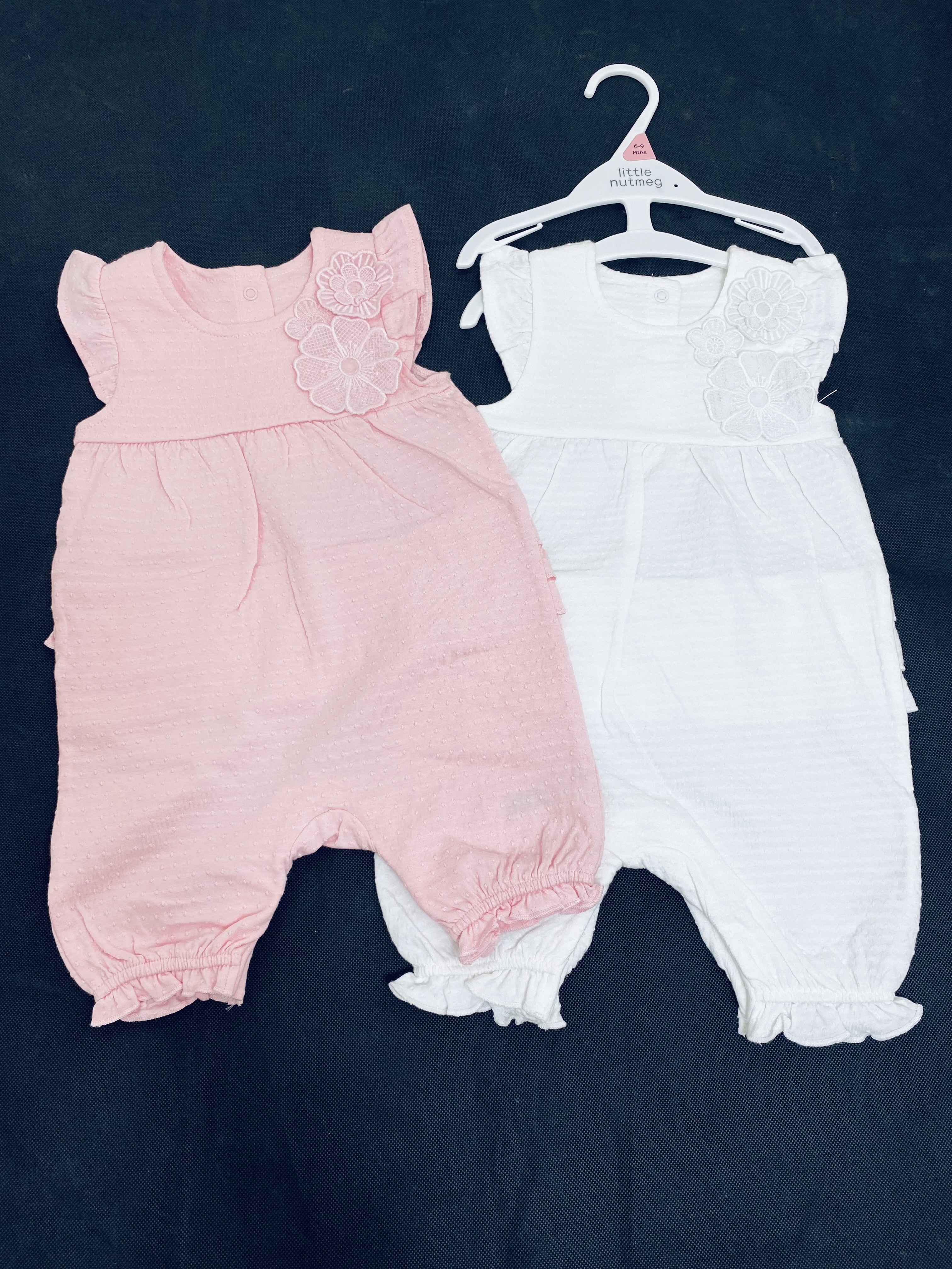 Ex Store Baby Girls 2 Pack of Rompers PACK OF 10