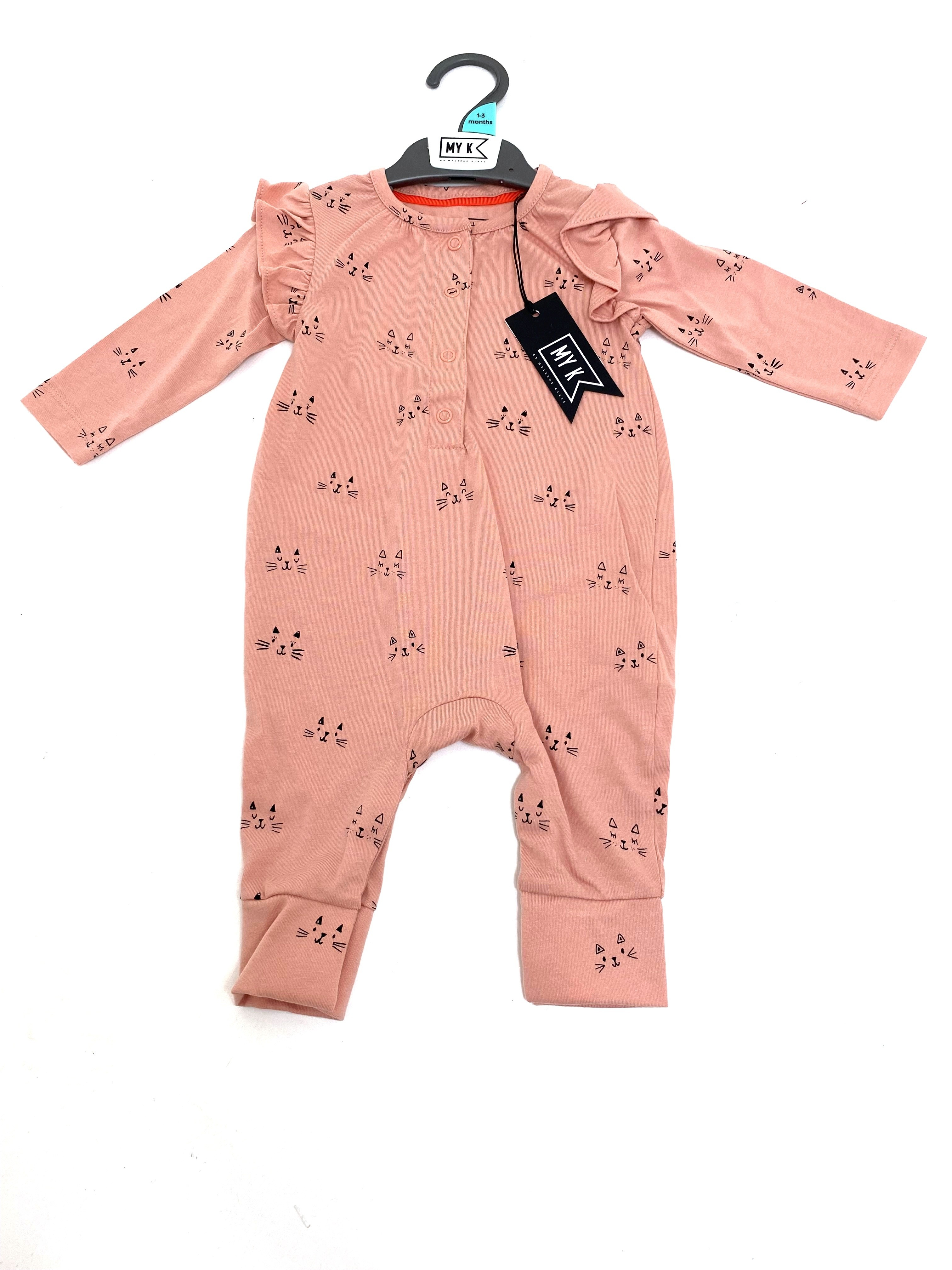 Ex M_e Baby Girls Dusty Pink All In One PACK OF 7