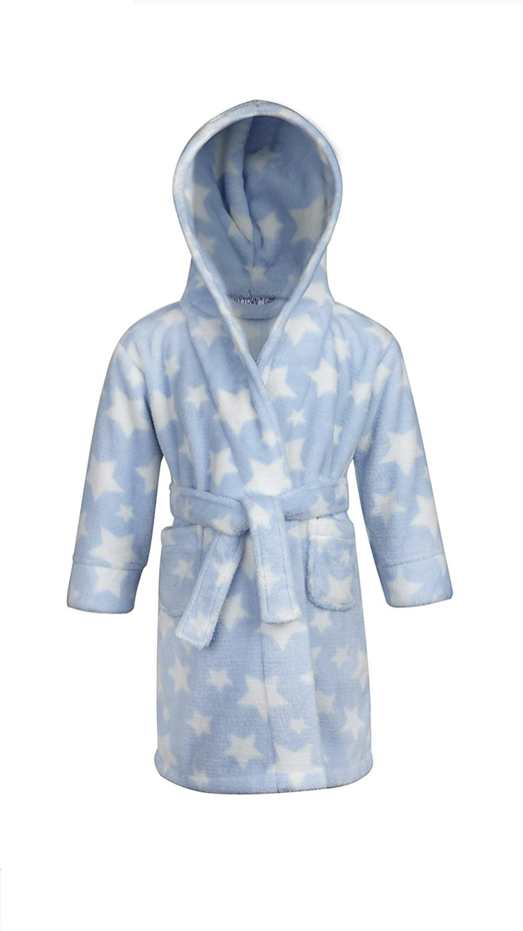 Babytown 'Star' Baby Boys Dressing Gown PACK OF 4