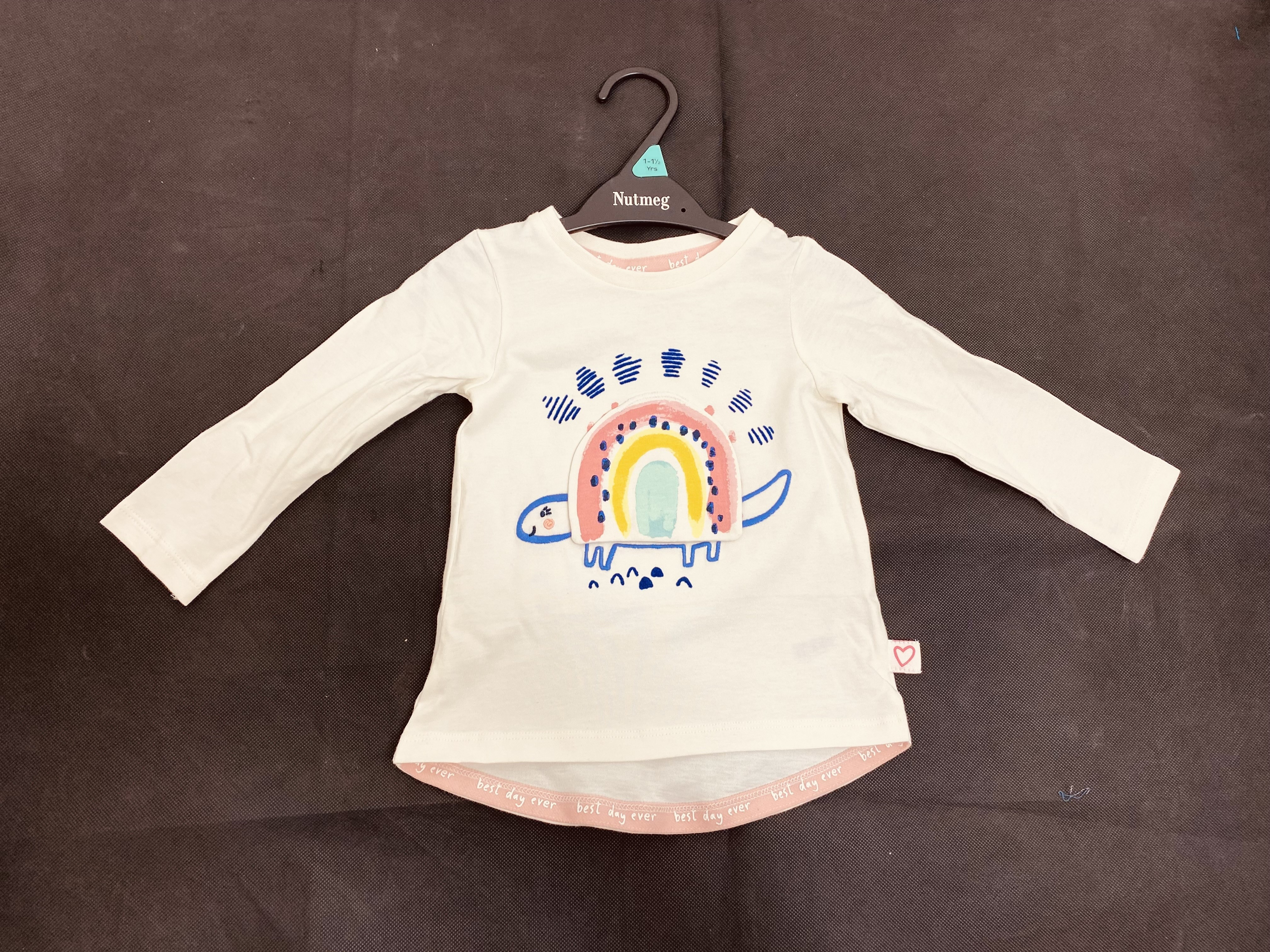 Ex Store 'Rainbow' Baby Girls Long Sleeved Top PACK OF 6