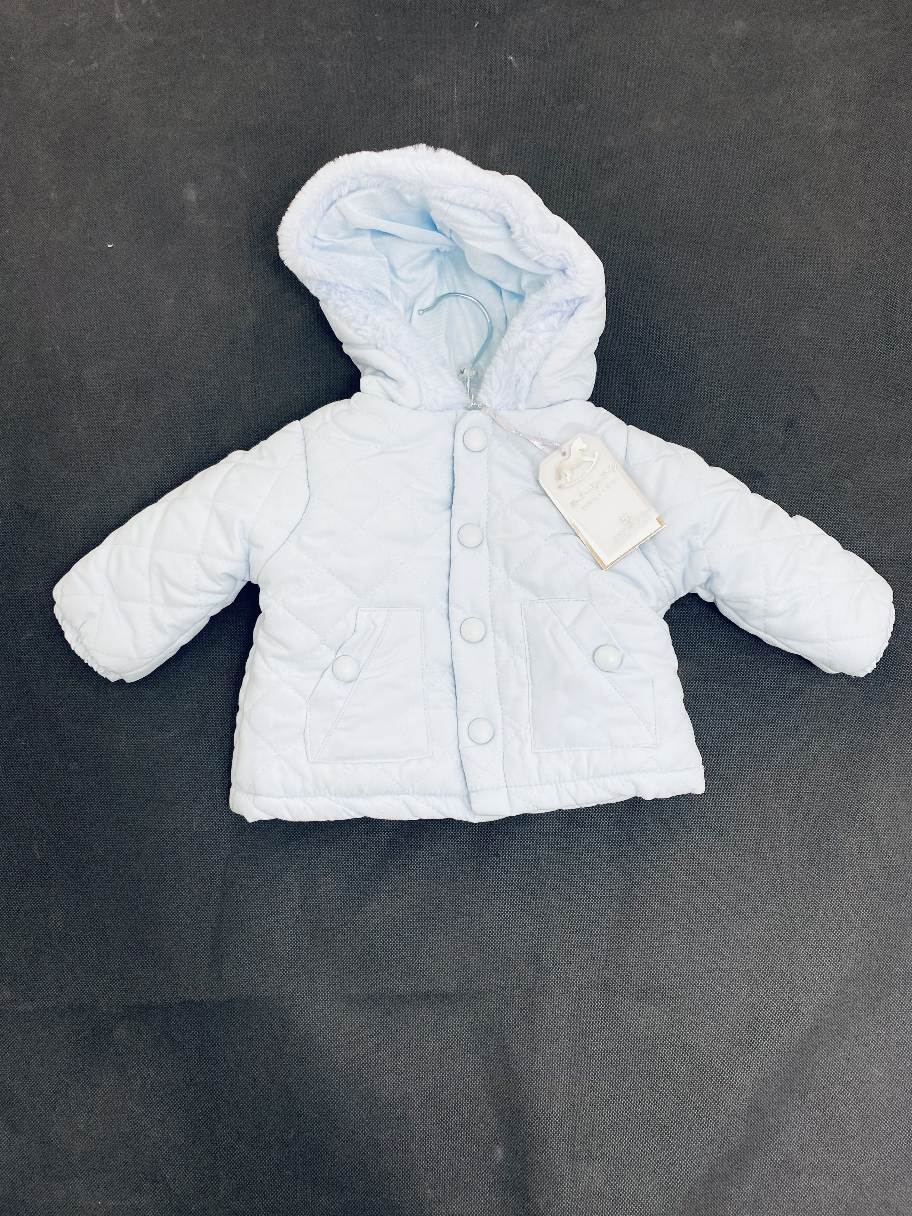 Rock a Bye Baby Boutique Baby Boys Blue Padded Jacket PACK OF 3