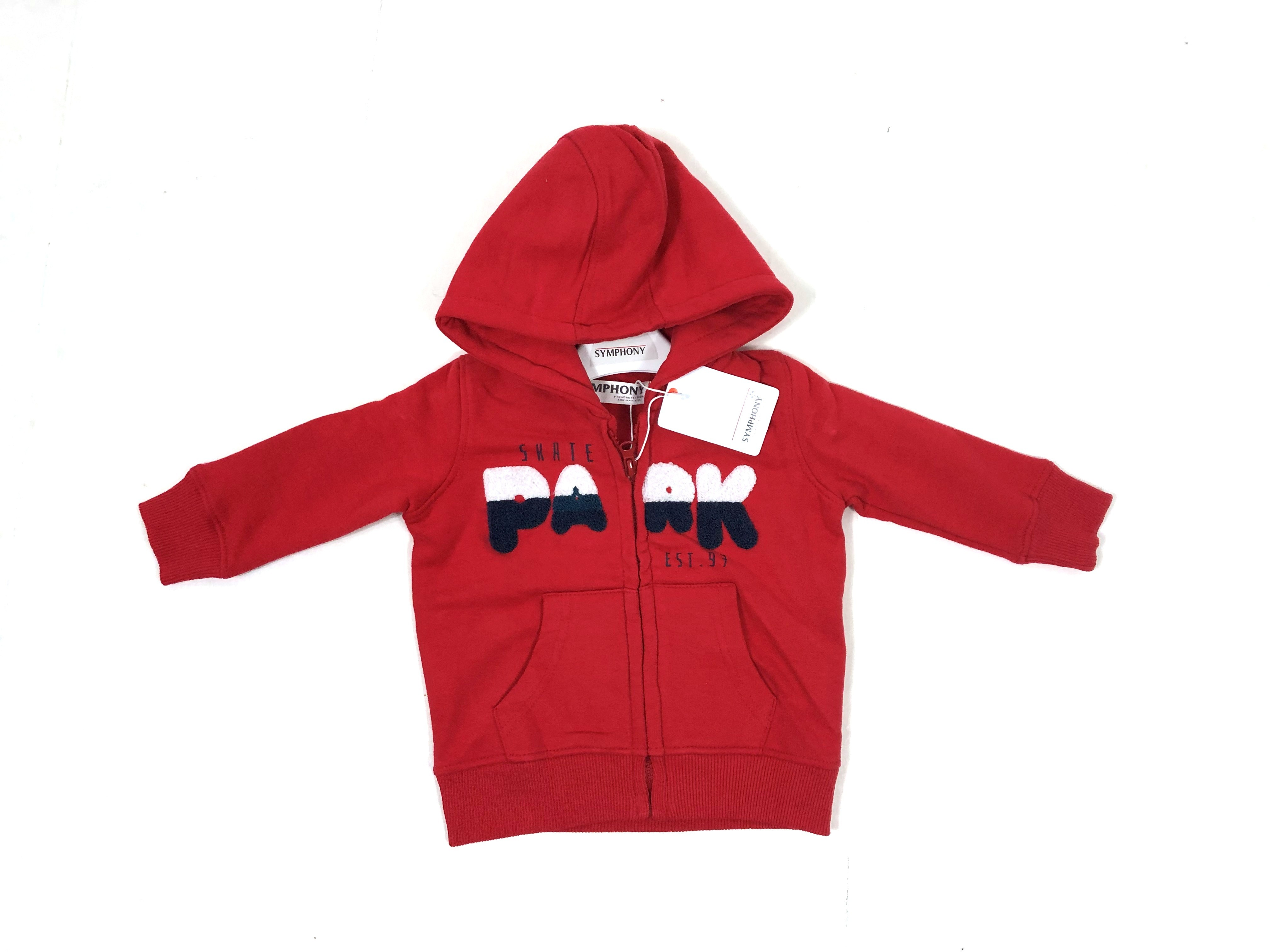 Symphony 'Skate 13'  Baby Boys Zipped Thru Red Hoodie PACK OF 9