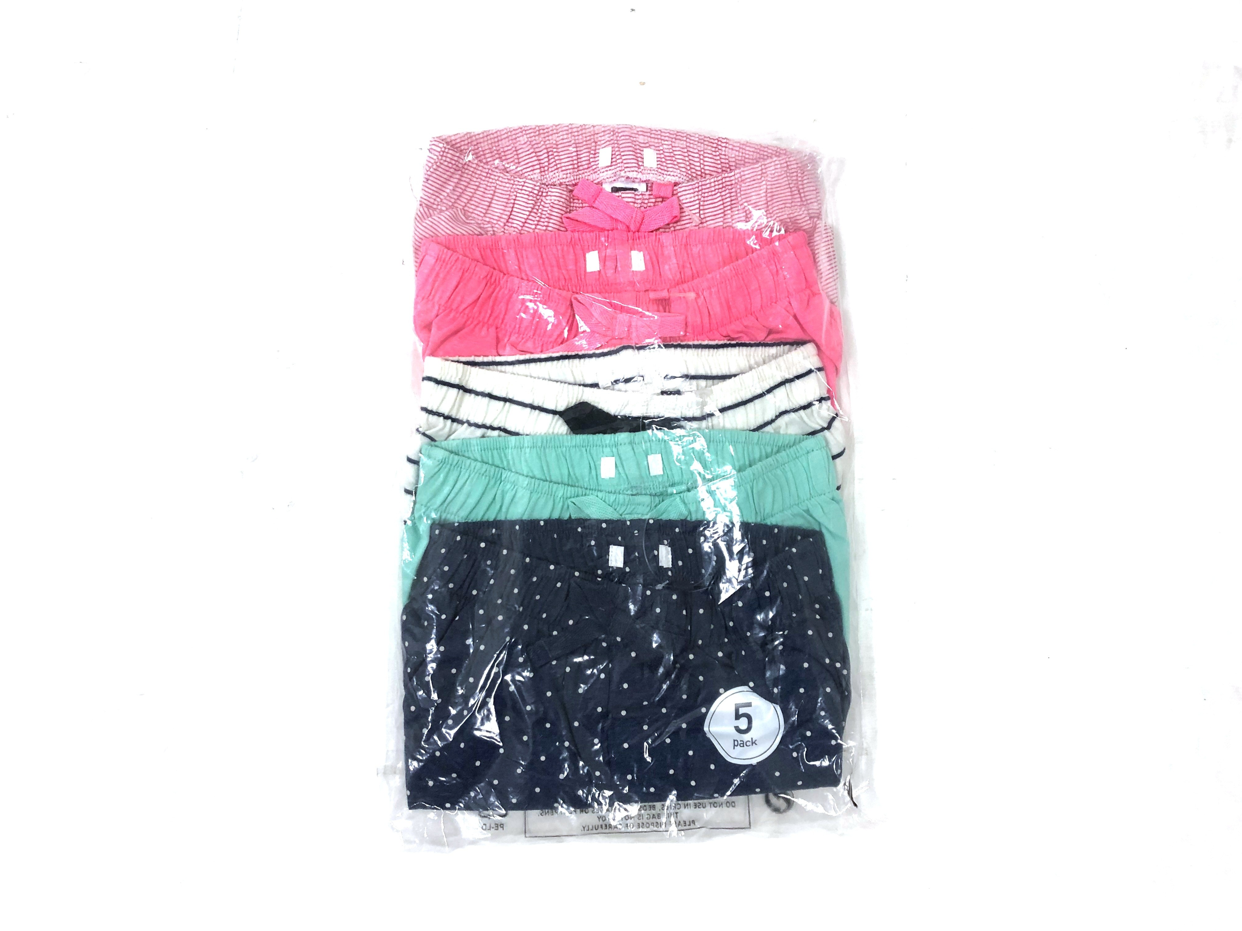 Ex Store Girls 5 Pack of Shorts PACK F 12