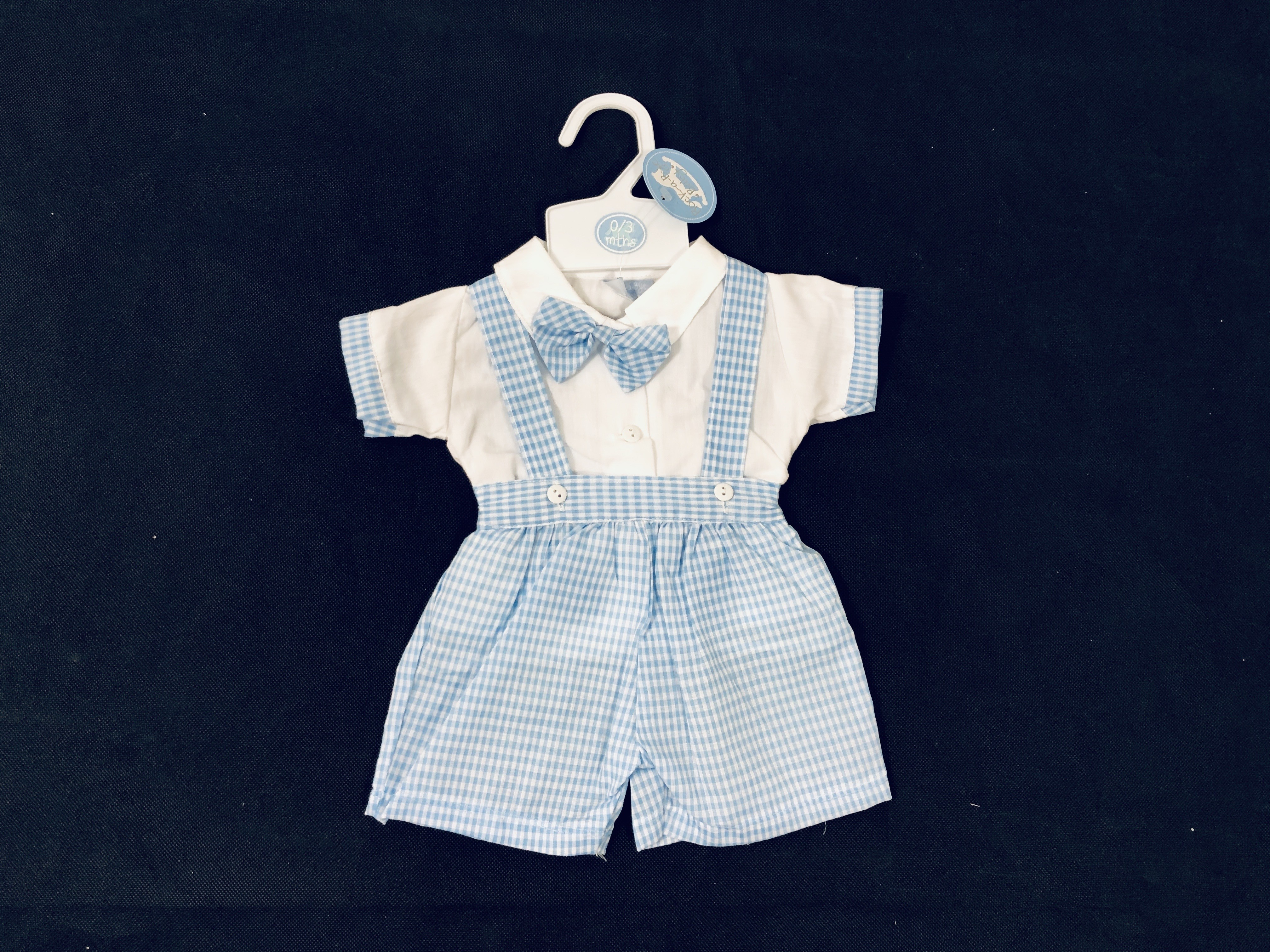 Rock a Bye Baby Baby Boys Checked Dungaree Set PACK OF 6
