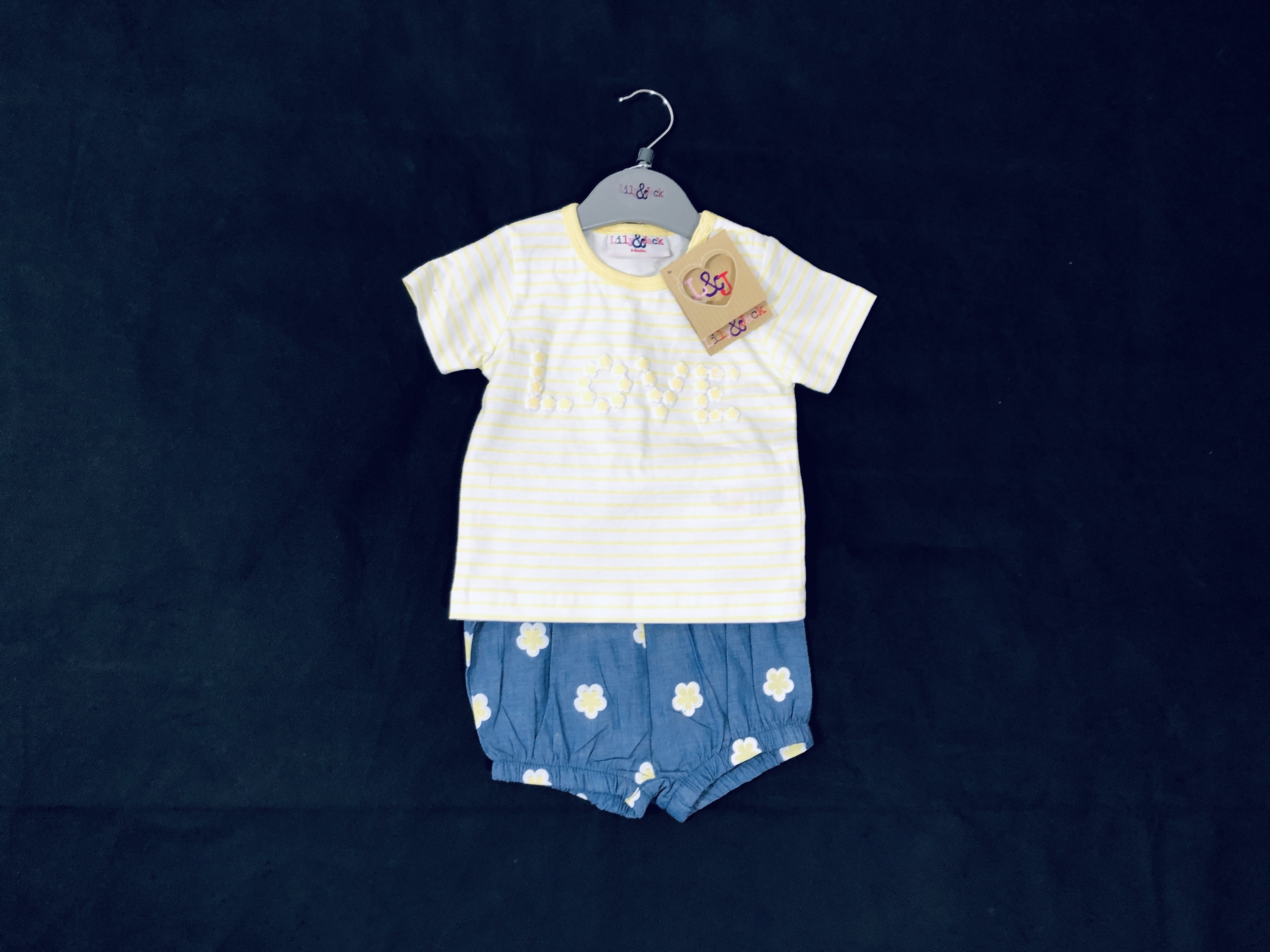 REDUCED PRICE Lily & Jack 'Love' Baby Girls T Shirt and Shorts Set PACK OF 8