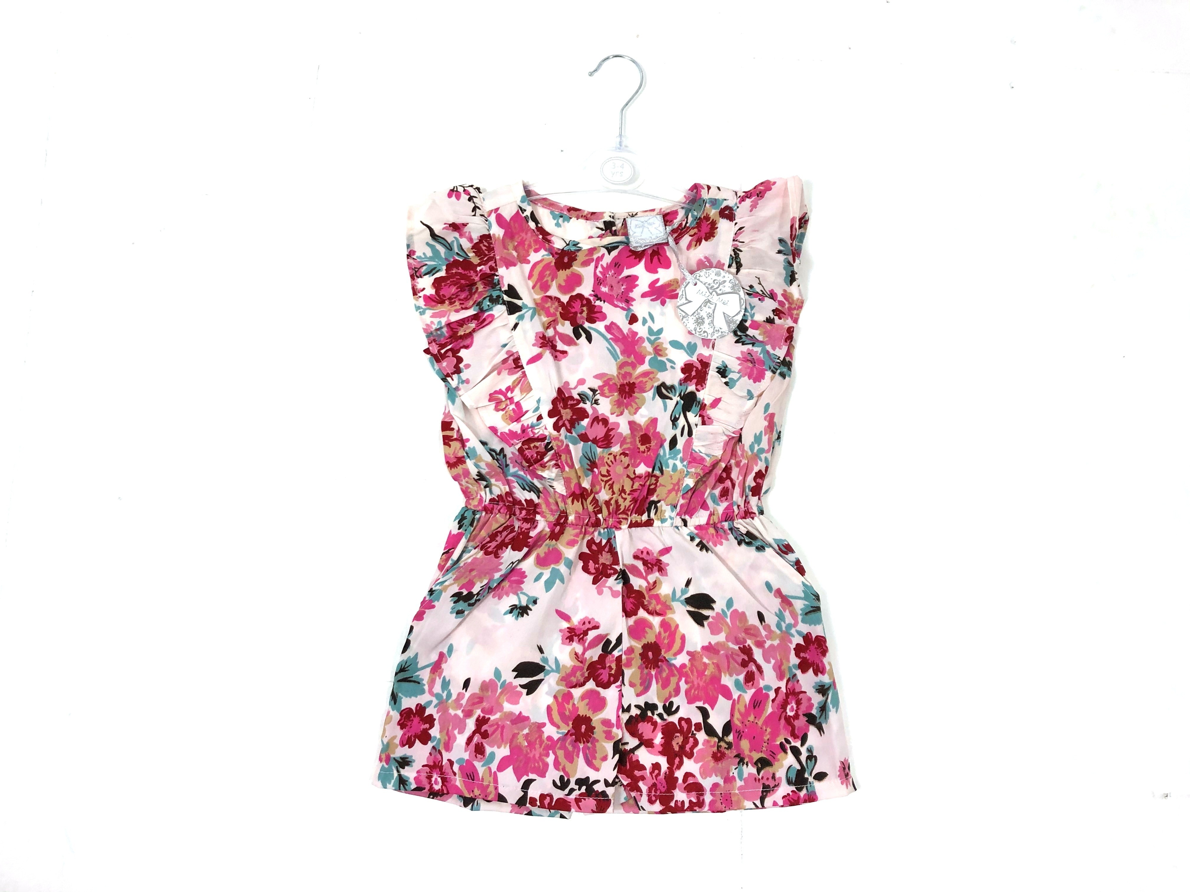 Mini Moi 'Floral' Girls Playsuits PACK OF 6