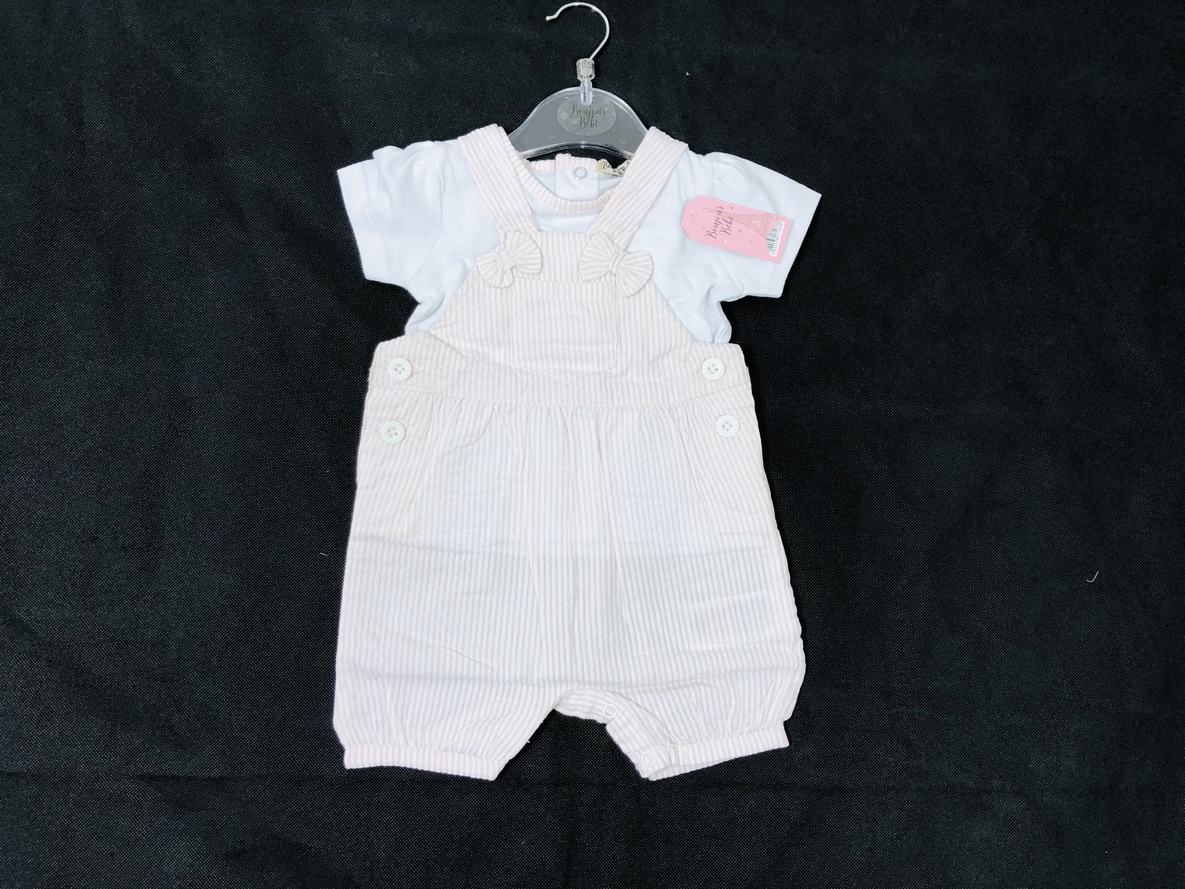 Bonjour Bebe  Baby Girls T Shirt and Dungaree Set PACK OF 6