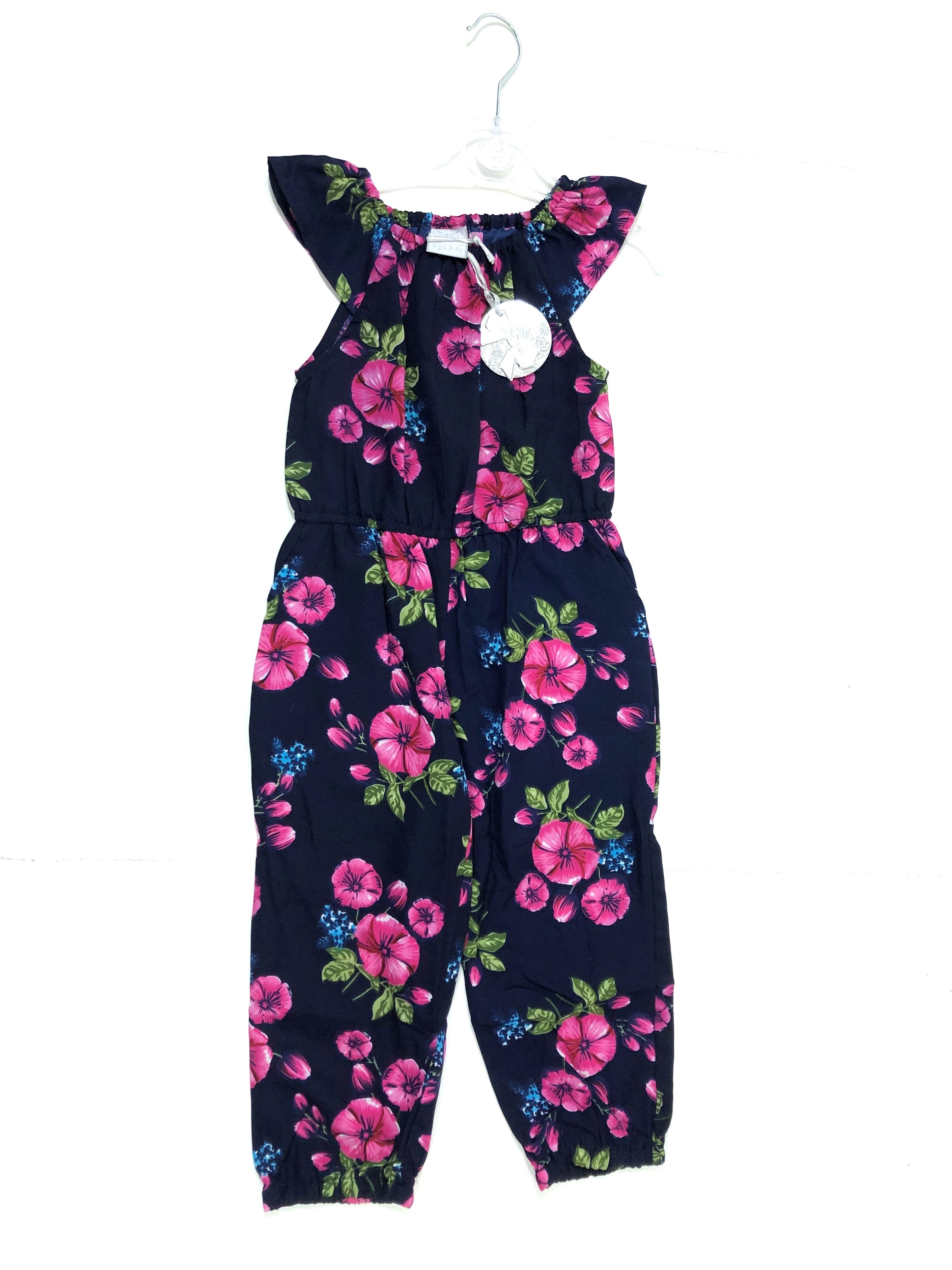 Mini Moi Multi 'Floral Navy Blue Girls Playsuits PACK OF 6