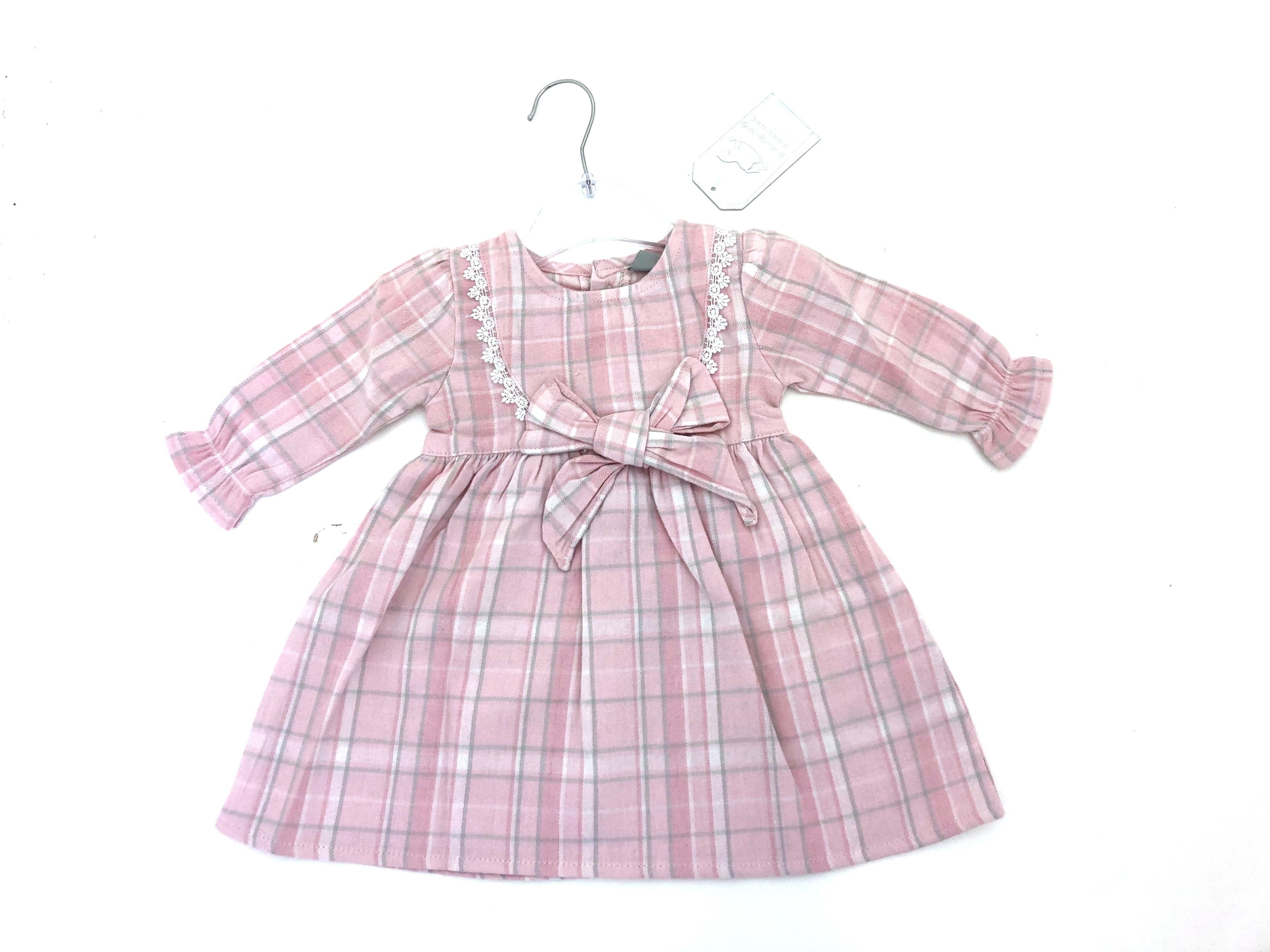 Rock a Bye Baby Baby Girls Pink Checked Dress Set PACK OF 6