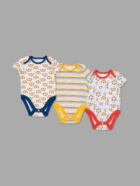 Lily & Jack Green Label 'Rainbow' Baby Baby Boys 3 Pack of Bodysuits PACK of 6