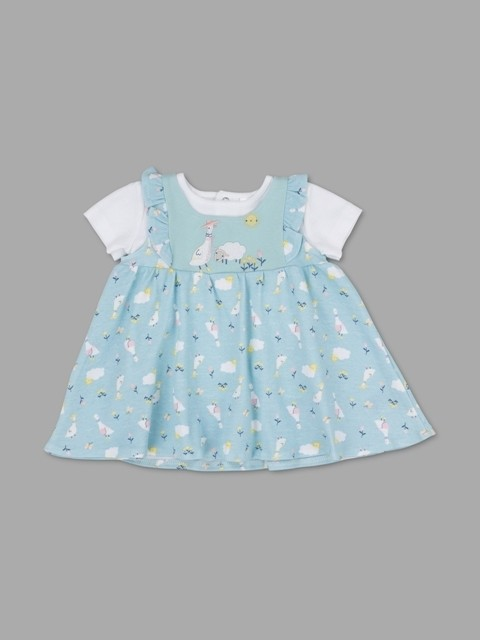 Lily & Jack Green Label Baby Baby Girls Organic Top and Pinafore Set PACK of 4