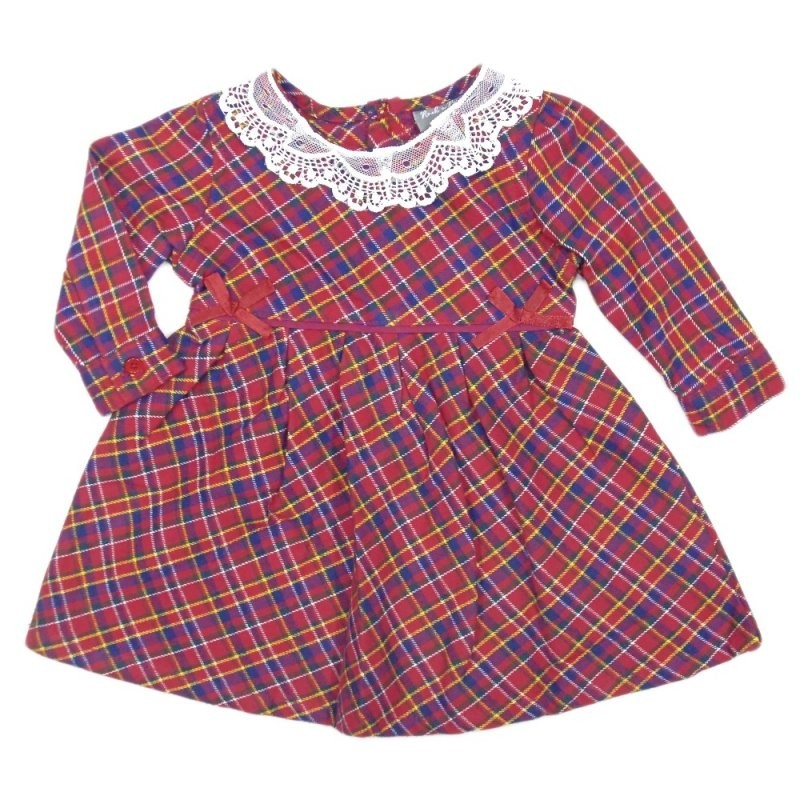 Rock a Bye Baby Boutique Baby Girls Checked Dress PACK OF 6
