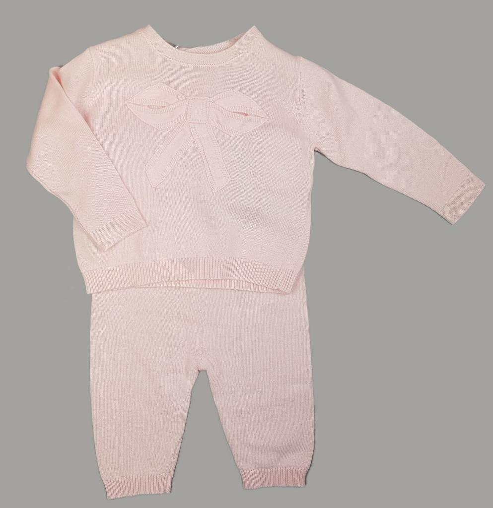 Rock a Bye Baby Boutique 'Bow' Baby Girls Pink Knitted 2 Pieces  Set PACK OF 6