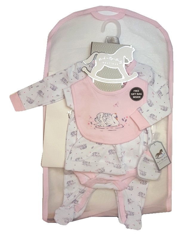 Rock a Bye Baby Boutique 'Swan'  Baby Girls 5 Piece Set PACK OF 4