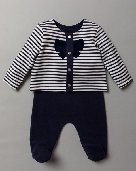 Rock a Bye Baby Boutique Baby Girls Striped Jacket and Trousers Set PACK OF 6