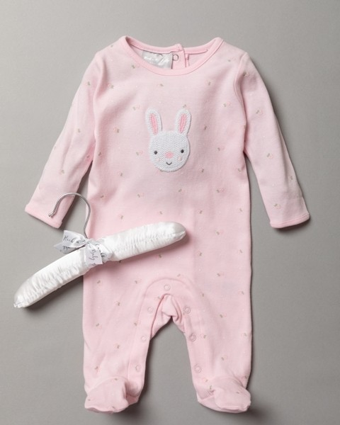 Rock a Bye Baby Boutique 'Rabbit' Baby Girls Sleepsuit PACK OF 6