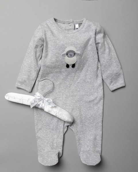 Rock a Bye Baby Boutique 'Sheep' Unisex Sleepsuit PACK OF 6