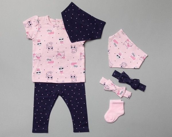 Lily & Jack 'Cat' Baby Girls 7 Pieces Set  PACK OF 4
