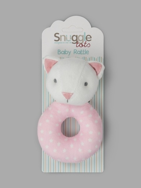 Snuggle Tots 'Cat' Baby Girls Toy Rattles PACK OF 6