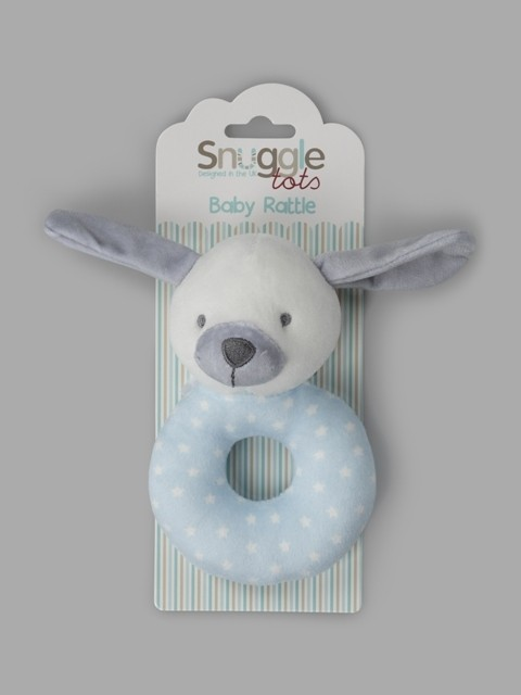 Snuggle Tots 'Dog' Baby Boys Toy Rattles PACK OF 6